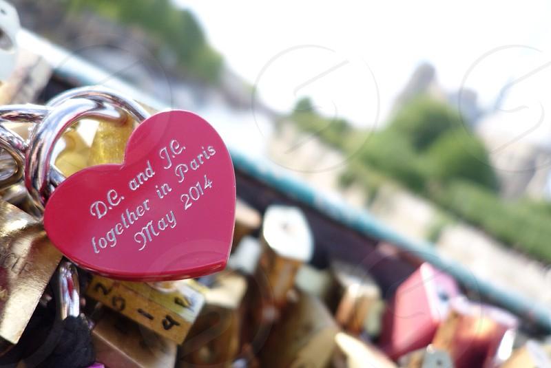 Love lock bridge  photo