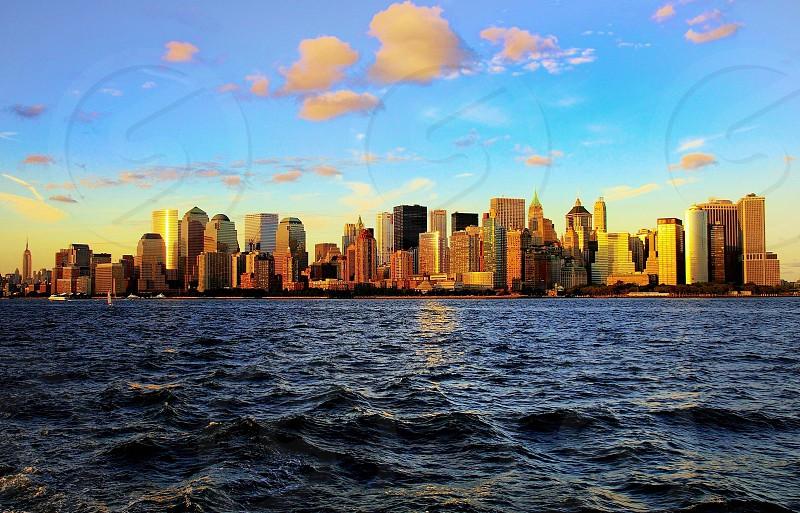 ocean overlooking new york city photo