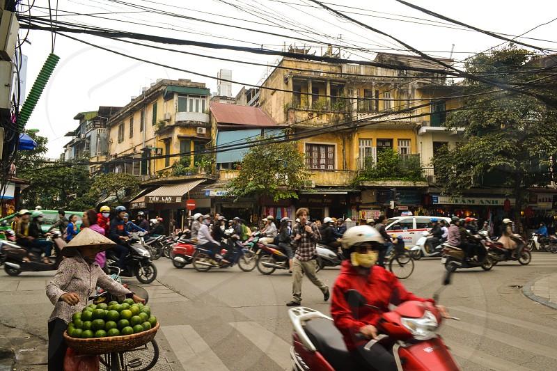 French Quarter in Hanoi Vietnam photo