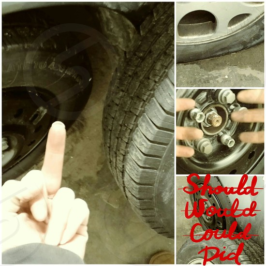 Remember your first time changing a tire? photo