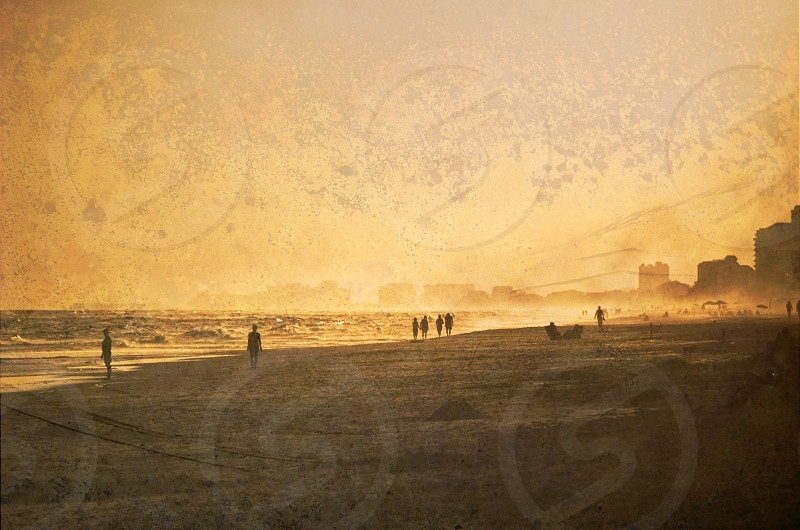 Misty beach photo