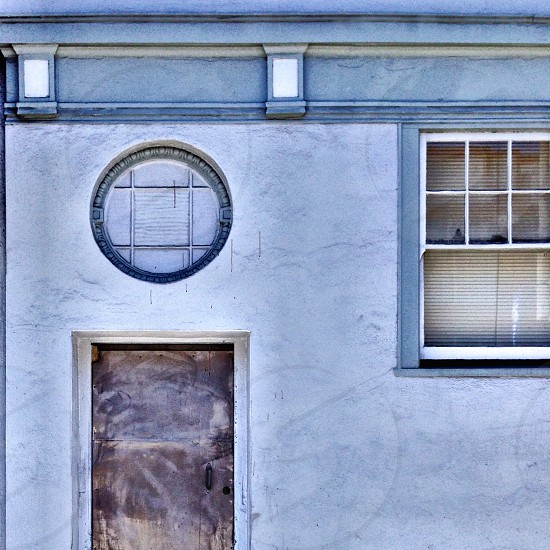 Facade door window geometric San Francisco  photo