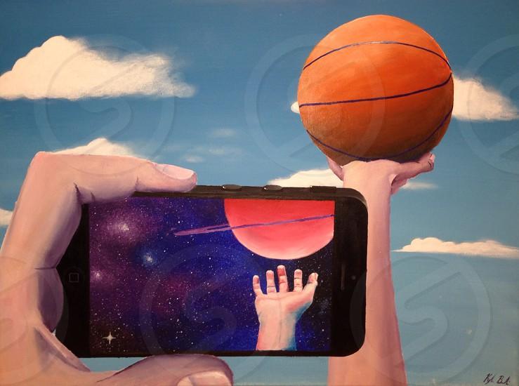 orange basketball ball photo