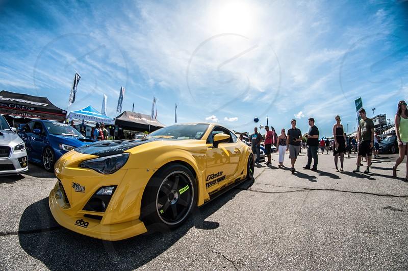 scion fr-s coupe yellow photo