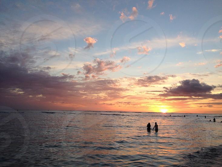 blue ocean water photo