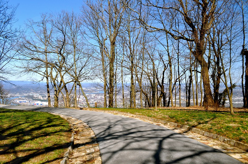 Trail on Lookout Mountain overlooking Chattanooga Tennessee photo