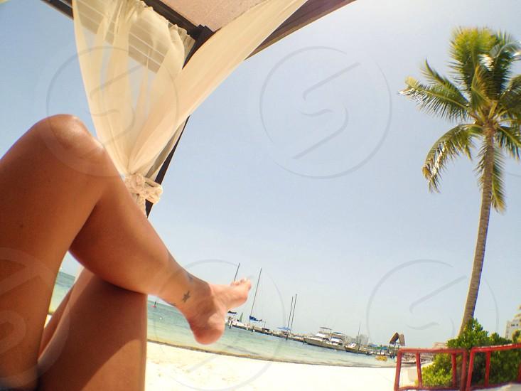Vacation relax beach Cancun photo