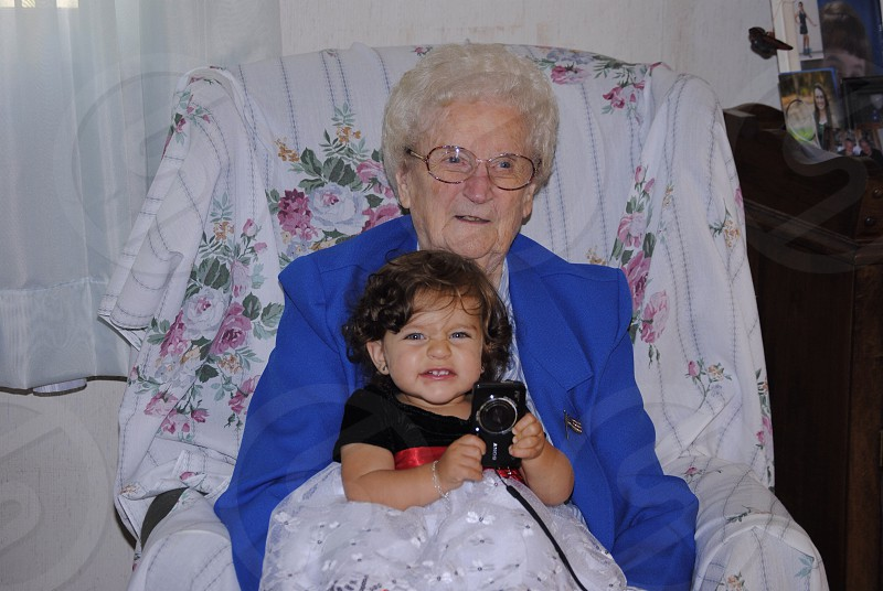 Great Grammy and great granddaughter.   photo