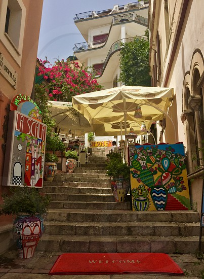 Taormina Italy Sicily Art Dining Vacation Leisure Culture photo