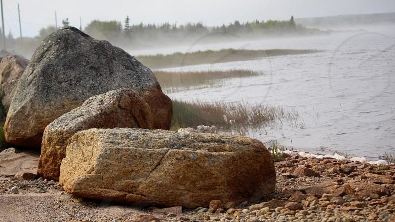 Rocks in Newfoundland photo