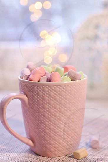 The cup of marshmallows photo