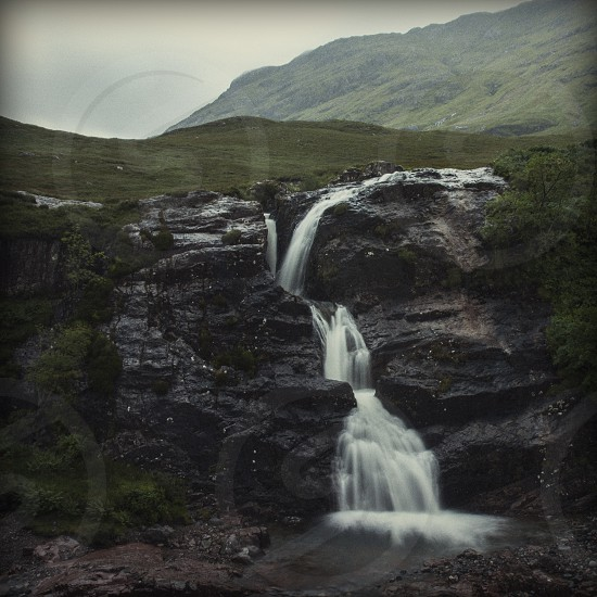 A waterfall outside of Glencoe Scotland. photo