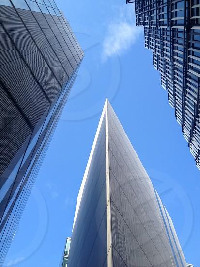 City building blue shapes London architecture  photo
