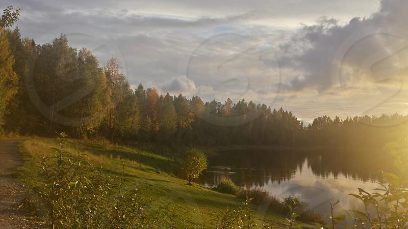 Beautiful day at the lake photo