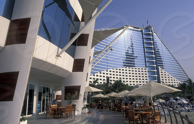 the Jumeira Beach Hotel in the city of Dubai in the Arab Emirates in the Gulf of Arabia. photo