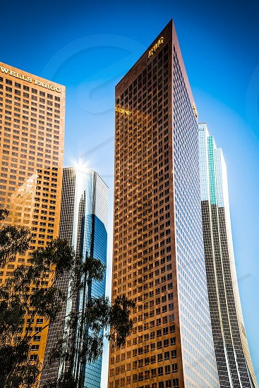 Skyscrapers in the Financial district of Los Angeles photo
