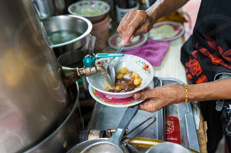 Street food - Thai dessert photo