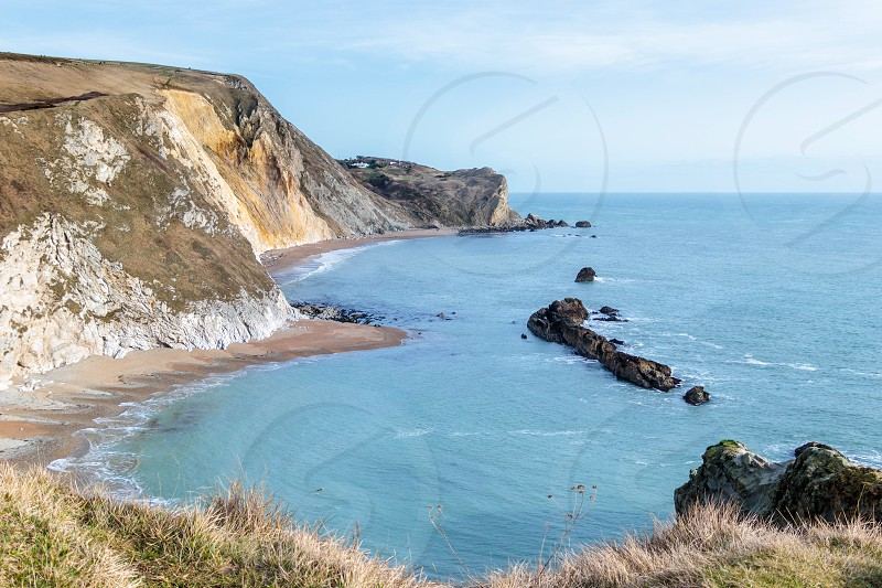 View of the Jurassic Coastline in Dorset photo