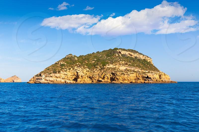 Javea Portichol Xabia Portixol island in Alicante at Mediterranean Spain photo