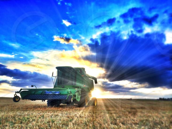 #farm #tractor #sexy #johndeere #combine #rural #alberta  photo