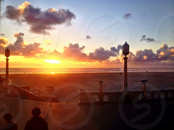 Seaside sunset photo