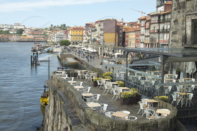 the old town on the Douro River in Ribeira in the city centre of Porto in Porugal in Europe. photo