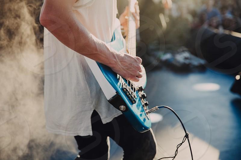 Music bass guitar concert festival light  photo