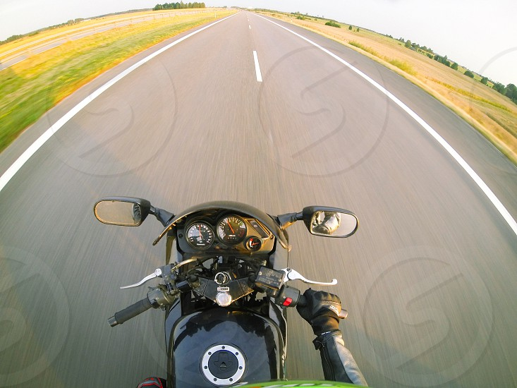 Me waiting for summer 2014 2015 moto motorcycle bike biker creative road highway speed fast point of view pov movement photo