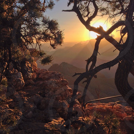 Sunset at the Grand Canyon photo