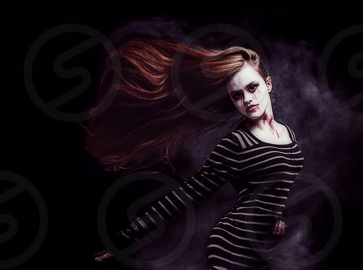 Scary dead girl.  photo