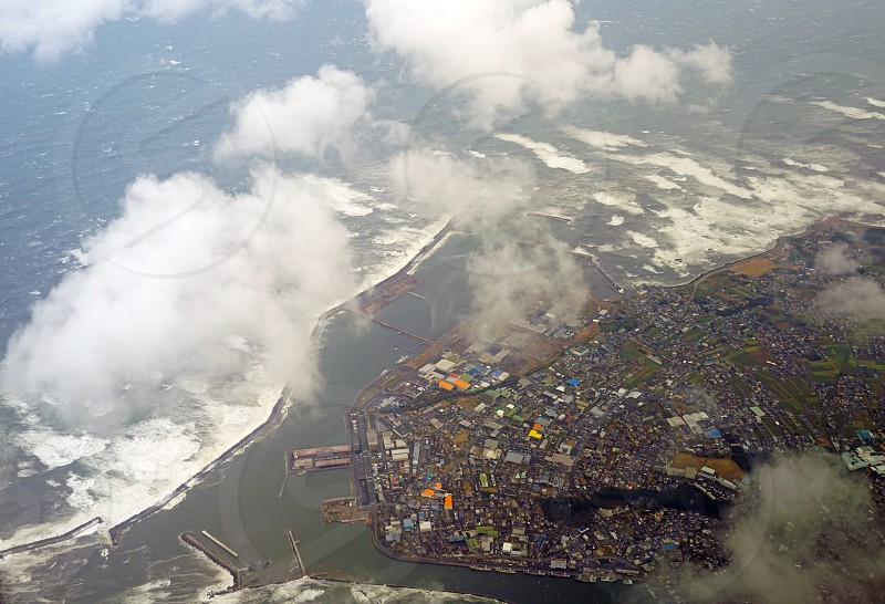 Aerial view of Choshi - Chiba Prefecture Japan photo