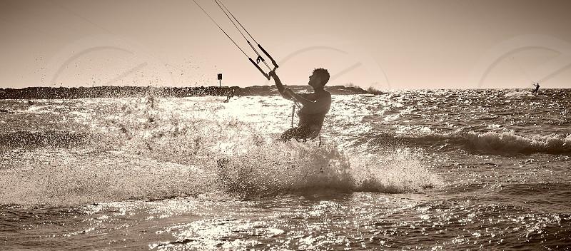 surfing in Tel Aviv  photo
