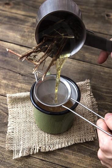 Freshly infuzed tea photo