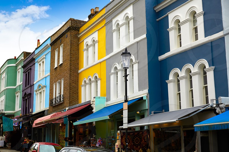 London Portobello road Market vintage in UK England photo