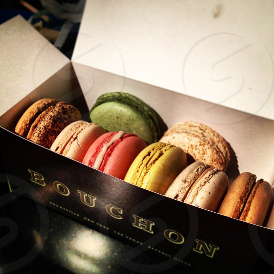 Colorful Macaroons in Bouchon Box photo