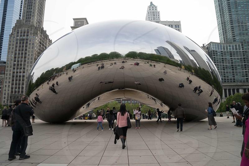 Chicago Illinois the bean cloud gate millennium park photo