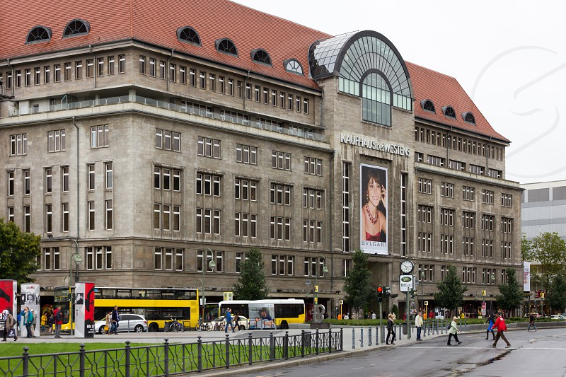 Kaufhaus des Westens is a large department store in near the center of Berlin Germany.  It is the second largest department store in Europe after Harrods  London.  photo