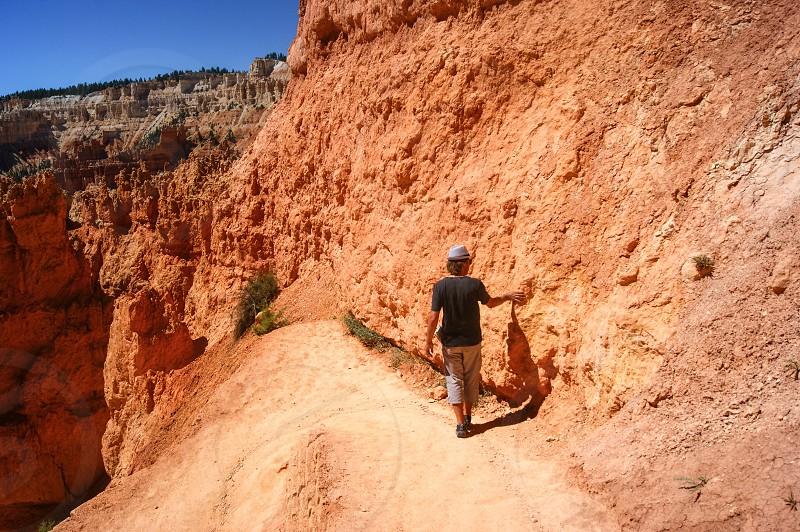 USA Bryce Canyon hiker photo