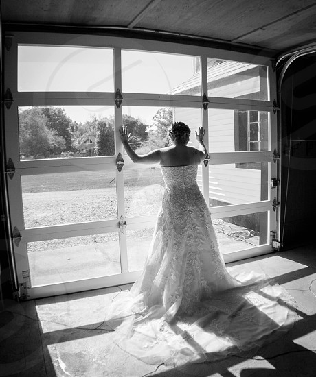 Bride in the barn photo