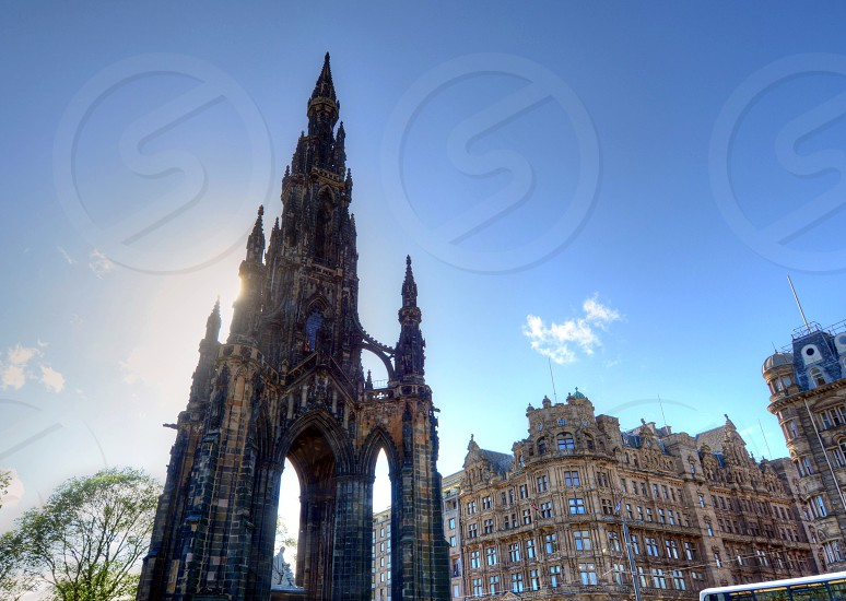 Scott Monument in Edinburgh Scotland. photo
