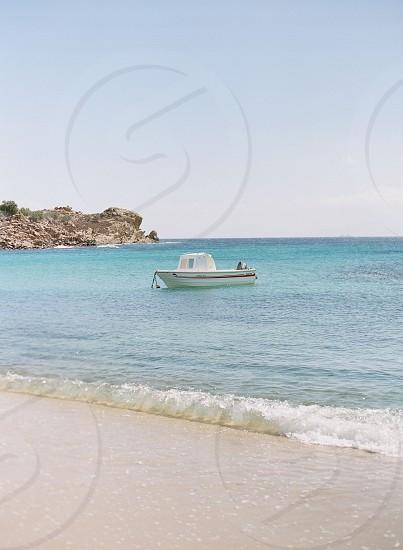 boat sea ocean mediterranean water blue beach waves vacation holiday destinationtravel photo