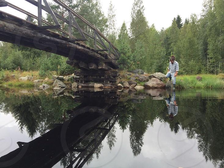 reflected photo