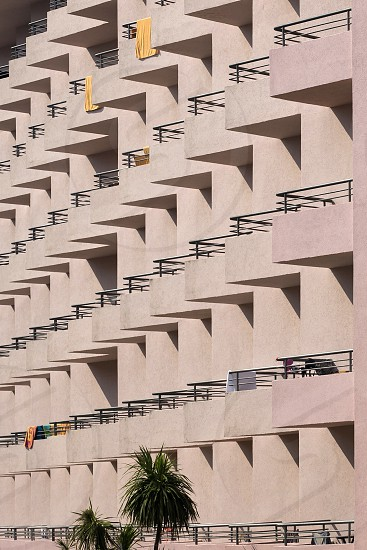Fragment of the facade of a multi-storey residential building photo