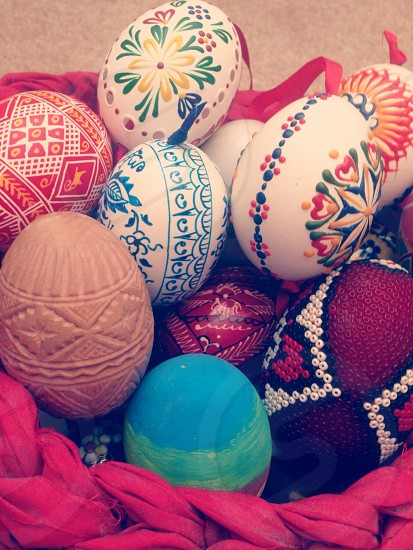 brown easter egg photo
