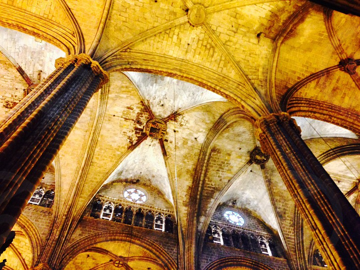 Ceiling at the Church of Barcelona - Spain photo