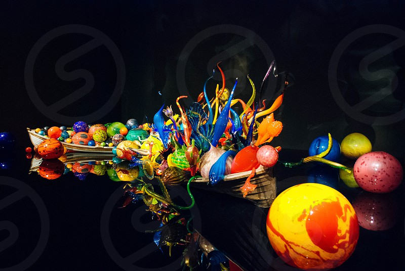 Art installation at Chihuly Garden and Glass in Seattle Washington. photo