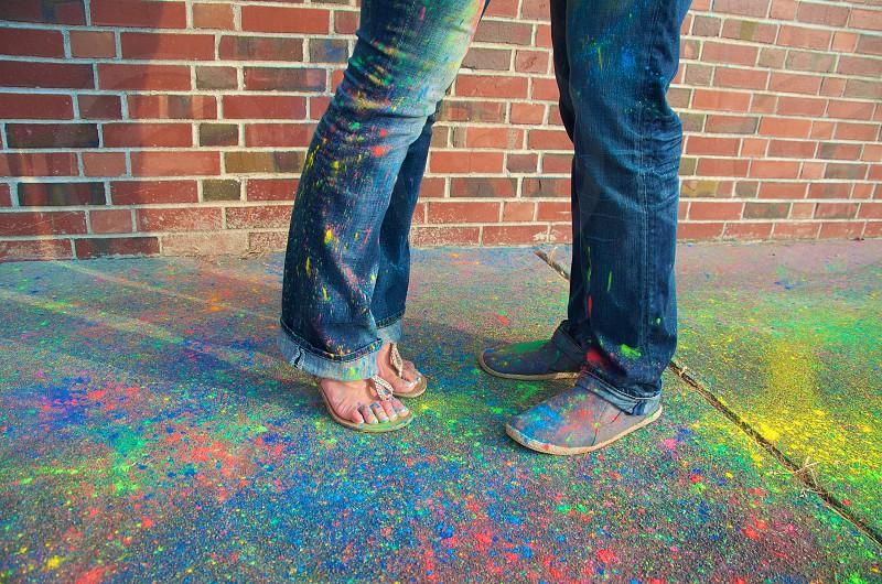 Feet paint powder shoes photo