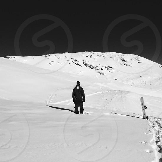 snowy mountain photography photo