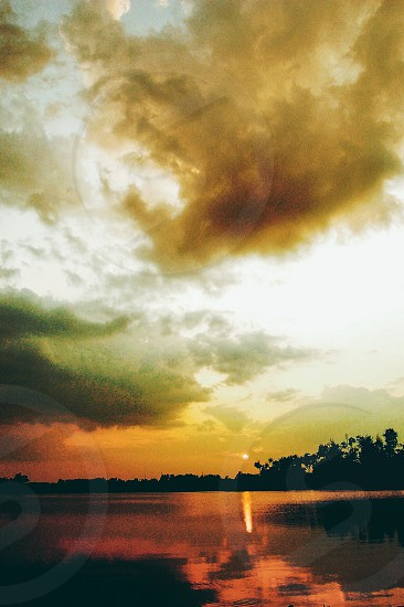 Sunset lake beauty  photo
