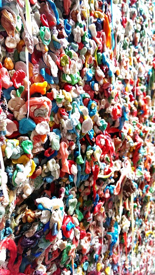 Gum Wall at Pike's Place Market in Seattle WA photo